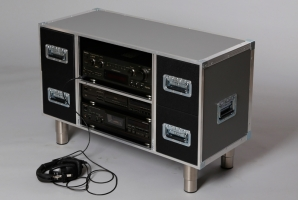 Flaches Hifi Rack (Grau)